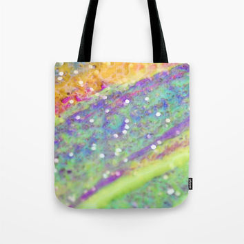 Art Tote Bag Color Blast 2 Modern Geometric Shapes Spring Summer Fashion multicolor art pastel green yellow pink purple aqua blue white neon