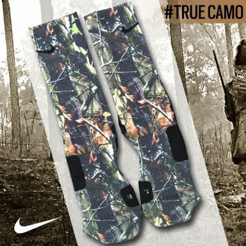Custom Nike Elite Socks - True Camo | Lacrosse Unlimited