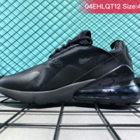 Nike Air Max 270 VAPORMAX FLYKNIT Casual Running Shoes All Black