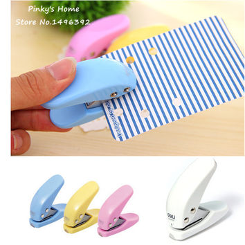 1Pcs DIY Mini Card Paper Punch Craft Circle Pattern Scrapbooking Puncher Hole Kid Student Office Stationery Hand Hole Punch