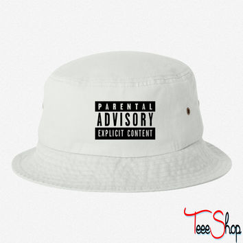 Parental Advisory bucket hat