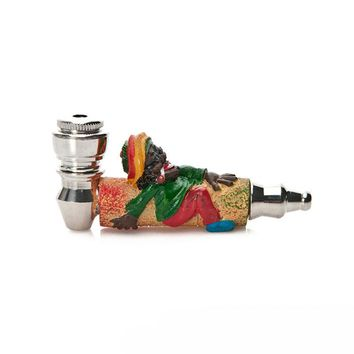 Fashion Art Smoke Metal Pipes Portable Creative Smoking Pipe Herb Tobacco Pipe Weed Pipes Mouthpiece Gifts Narguile Hookah