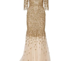 Marchesa - Embellished tulle gown