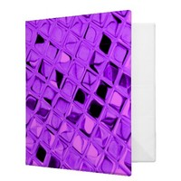 Shiny Metallic Amethyst Purple Grape Diamond 3 Ring Binders