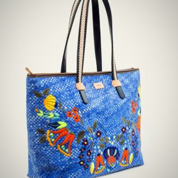 Consuela Playa Niki Blue Zipper Tote
