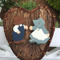 Vintage Handmade Mail Box -heart shaped Box