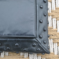 Black Leather Clutch - unique BUMPY purse bag