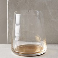 Color-Drop Stemless Wine Glass by Anthropologie in Gold Size: Wine Glassware
