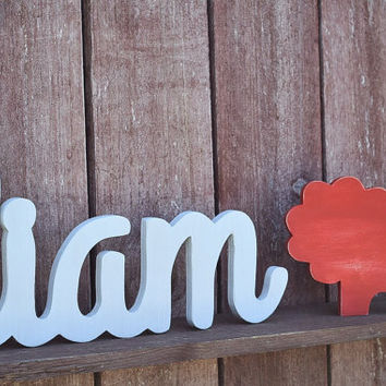 Large Baby Name Sign - Liam - Wooden name signs for nursery decor