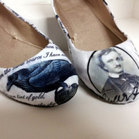 "Edgar Allen Poe ""The Raven"" Poetry Flats - Made to Order"