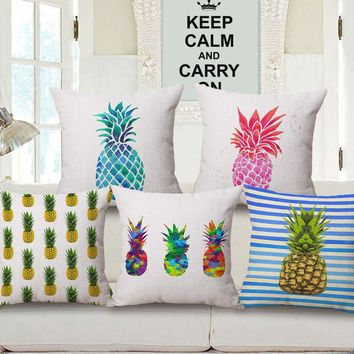 Nordic Personality fruit pineapple Car Home Decor Sofa Car Seat Decorative Cushion Cover Pillow Case Capa Almofada