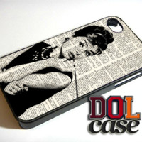 Vintage dictionary audrey hepburn iPhone Case Cover|iPhone 4s|iPhone 5s|iPhone 5c|iPhone 6|iPhone 6 Plus|Free Shipping| Consta 409