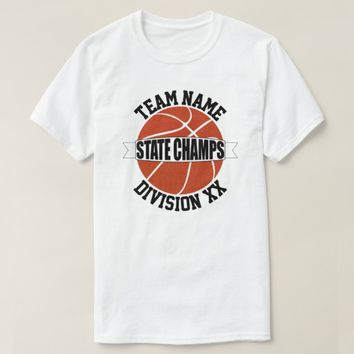 High School Basketball State Champions Team & Div. T-Shirt