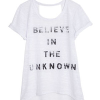 Believe in the Unknown Tee - White