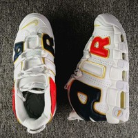 Nike Air More Uptempo Trending Women Men Sports Basketball Shoes Sneakers White I