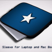 Captain America Movie 'Star' Logo X1674 Sleeve for Laptop, Macbook Pro, Macbook Air (Twin Sides)