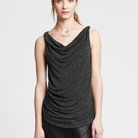 Banana Republic Womens Textured Twisted Cowl Tank