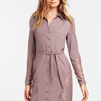 Lace-inset Shirtdress
