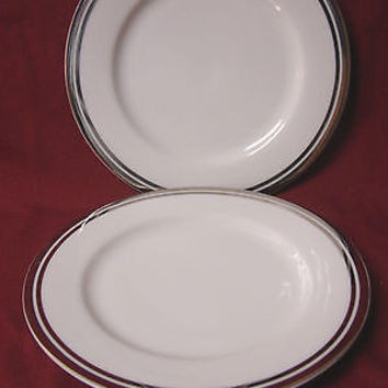 Royal Doulton, China Dinnerware Pure Platinum, set 2 Salad plate