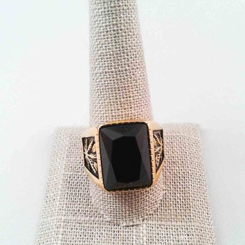 Gold & Black Stainless Steel Ring