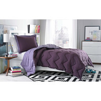 3M® Micro Splendor Purple Reversible Comforter Set - Bed Bath & Beyond