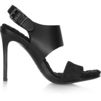 Acne Studios - Tillie leather and calf hair sandals