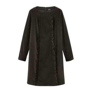 Robe Ruth - Marron fonce - A.P.C.