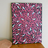 Original Painting Aboriginal Inspired Reds by Acires on Etsy