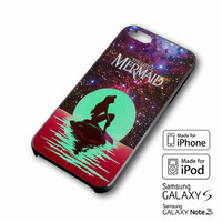 In The Moon light Nebula Space Ariel The Little Mermaid iPhone case 4/4s, 5S, 5C, 6, 6 +, Samsung Galaxy case S3, S4, S5, Galaxy Note Case 2,3,4, iPod Touch case 4th, 5th, HTC One Case M7/M8