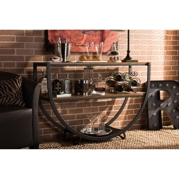 Baxton Studio Blakes Industrial Distressed Wood Console Table | Overstock.com Shopping - The Best Deals on Coffee, Sofa & End Tables