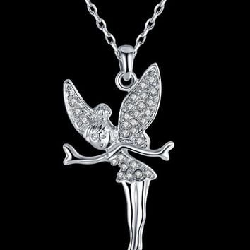 Streetstyle  Casual Little Fairy Pendant Necklace
