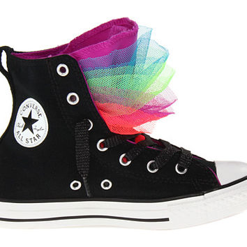 Converse Kids Chuck Taylor® All Star® Party Hi (Little Kid/Big Kid) Black/Purple Cactus Flower - Zappos.com Free Shipping BOTH Ways