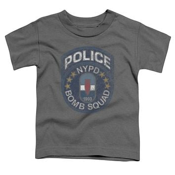 NYPD Toddler T-Shirt Police Bomb Squad Charcoal Tee