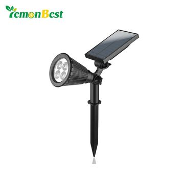 Warm Cold White RGB Waterproof IP65 Spotlight Solar LED Lamp Outdoor Landscape Solar Spot Light Yard Path Spot decor Light Lamp