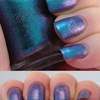 Maui - 15ml - teal/blue/purple duochrome nail polish by Indigo Bananas
