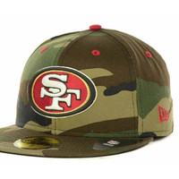 San Francisco 49ers NFL Camo Pop 59FIFTY Cap