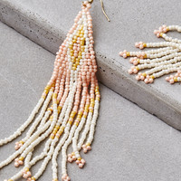 AEO Seed Bead Statement Earring, Blush