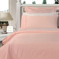 Blush Twin XL Egyptian cotton Solid 3Pieces Alternative Comforter set
