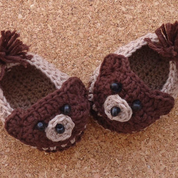 Teddy Bear Crochet Baby Shoes