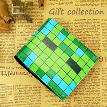 Minecraft wallet Leather Green full color, Gift Wallet Luxury