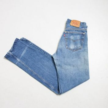 "Vintage Levi's 501xx JEANS - Cotton Denim Straight Leg High Waist Boyfriend Jeans 1980s - 29"" x 34"""