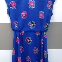 LILLY PULITZER | Blue Floral Dress | SIZE M
