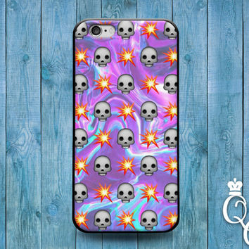 iPhone 4 4s 5 5s 5c 6 6s plus + iPod Touch 4th 5th 6th Gen Purple Galaxy Fire Skull Emoji Cool Cover Cute Funny Custom Fun Gift Phone Case