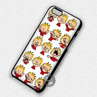 Funny Faces Calvin And Hobbes - iPhone 7 6 5 SE Cases & Covers