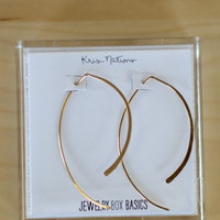 Kris Nations Arc Hoops - Gold