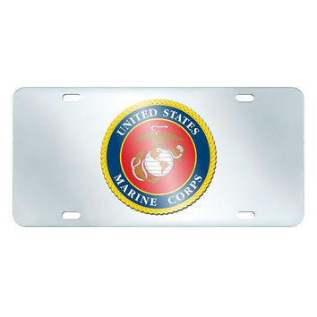 US Marines Armed Forces License Plate-Inlaid