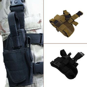 Classic Adjustable Practical Puttee Bag Thigh Leg For Holster Pouch Outdoor Hunting Airsoft Military Tactical free shipping