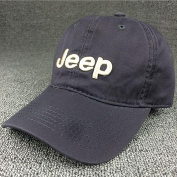 Gray JEEP Embroidered Baseball Cap Hat Gift