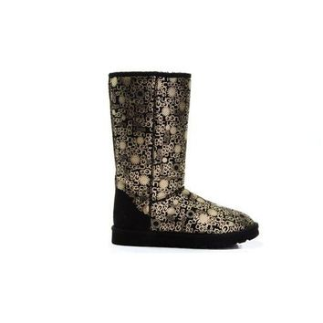 Black Friday Uggs Boots Classic Fancy 5998 Black For Women 84 84