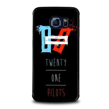 twenty one pilots symbol samsung galaxy s6 edge case cover  number 1